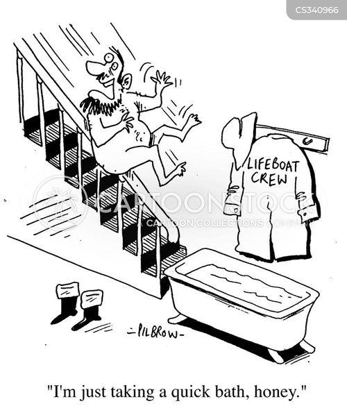 lifeboat crew cartoon