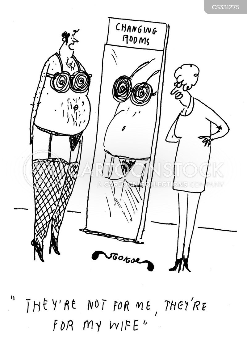 lingerie shop cartoon