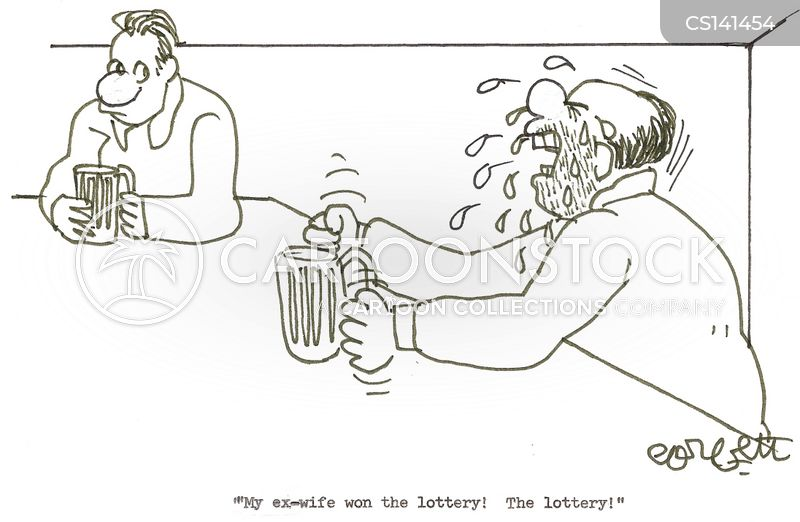 winning the lottery cartoon