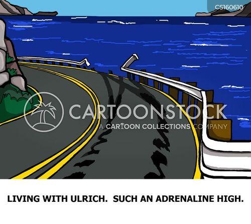 crash barrier cartoon