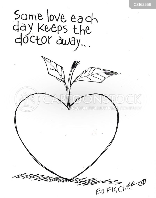 an apple a day cartoon