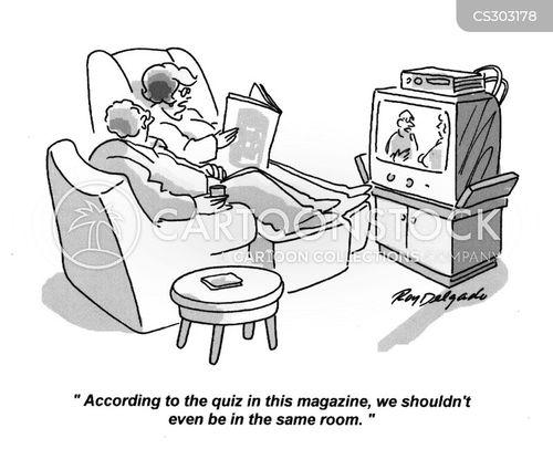quizzed cartoon