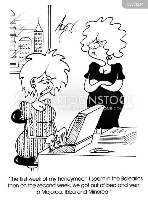 honeymooning cartoon