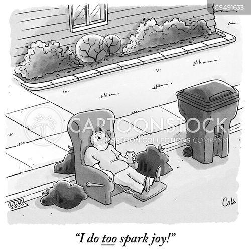 marie kondo cartoon