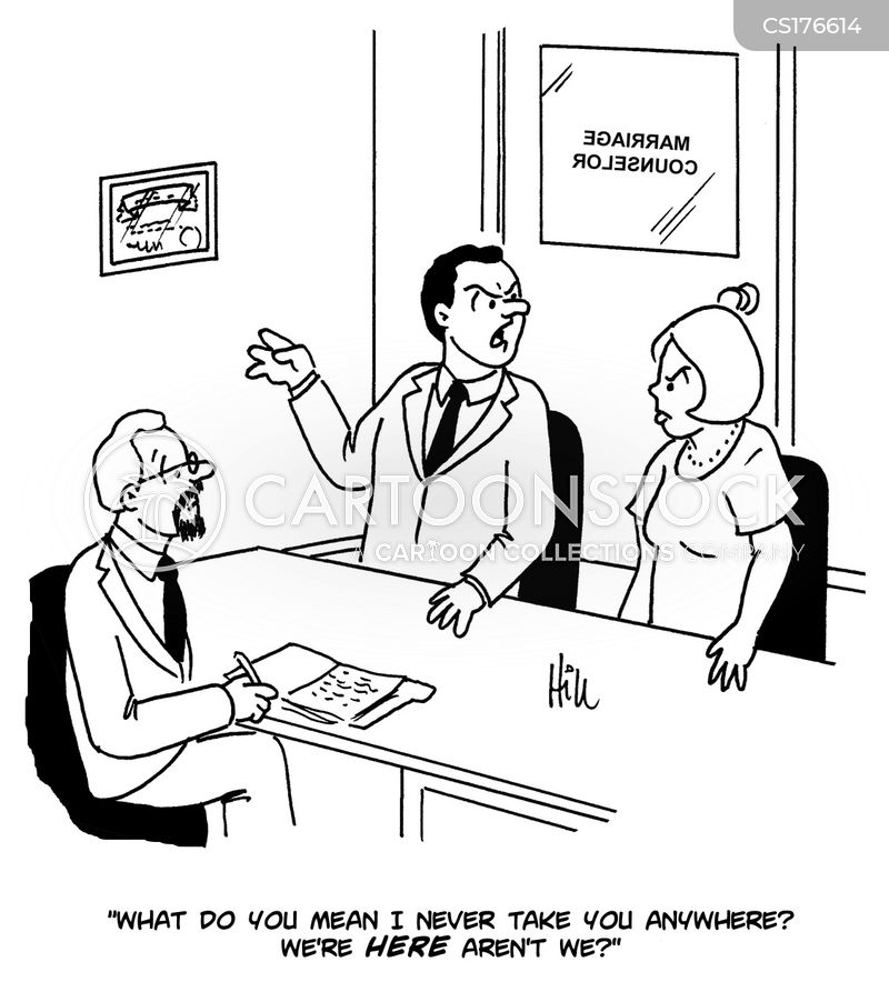 marriage counselor cartoon