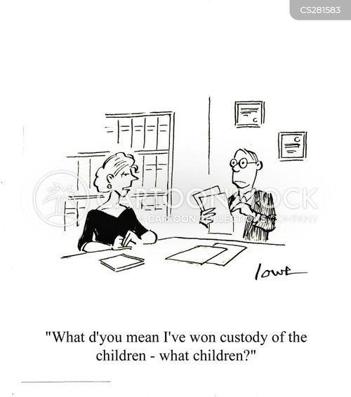 custody war cartoon
