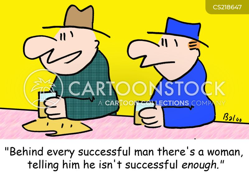 behind every successful man cartoon