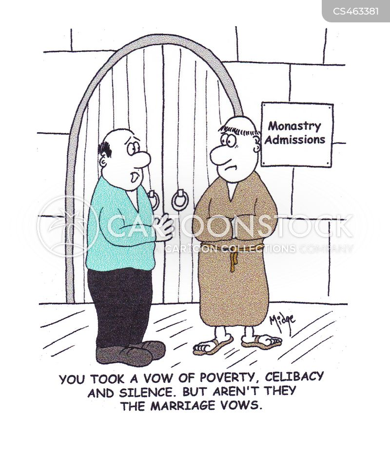 vow of poverty cartoon