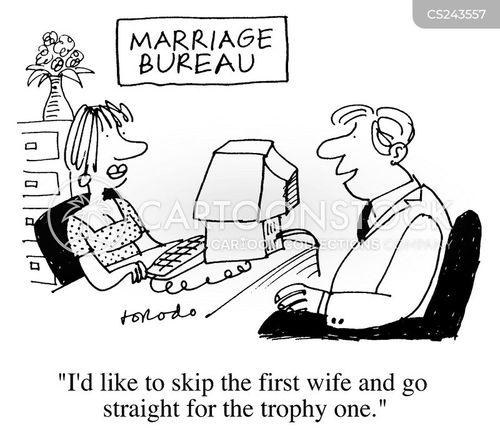 Marriage Bureau Cartoons and Comics - funny pictures from CartoonStock