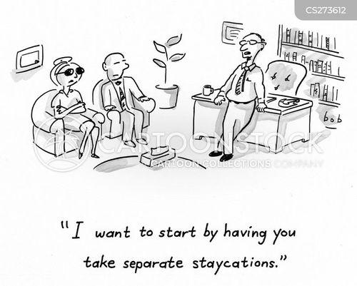 no vacation cartoon