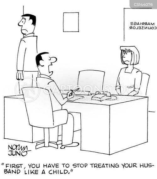 couples counselor cartoon