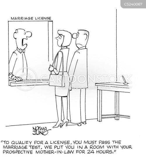 marriage licence cartoon