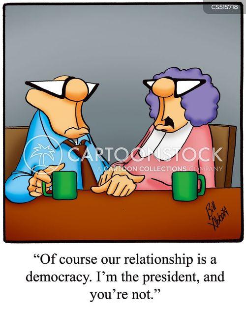 controlling wife cartoon