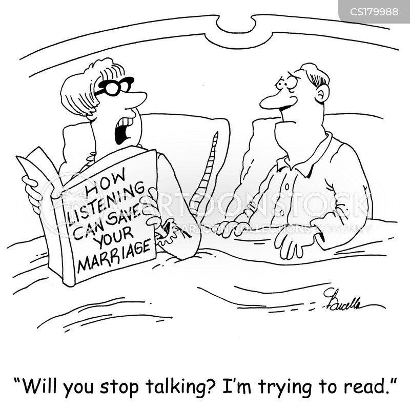 reading in bed cartoon