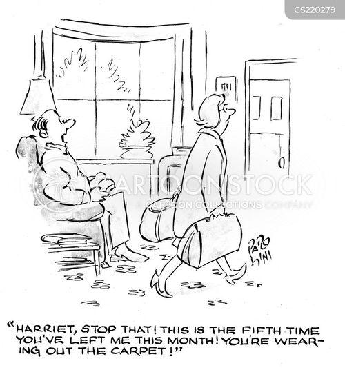 failing relationship cartoon