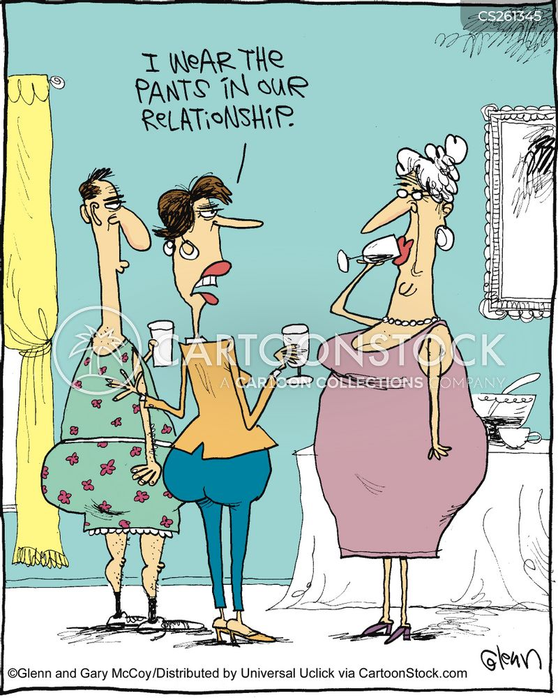 1de6172b5ee7a4 I Wear The Pants Cartoons and Comics - funny pictures from CartoonStock