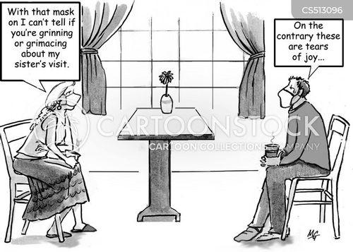 grimacing cartoon