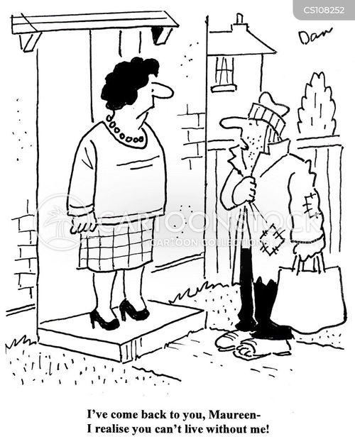 disheveled cartoon