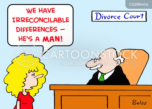 women vs men cartoon