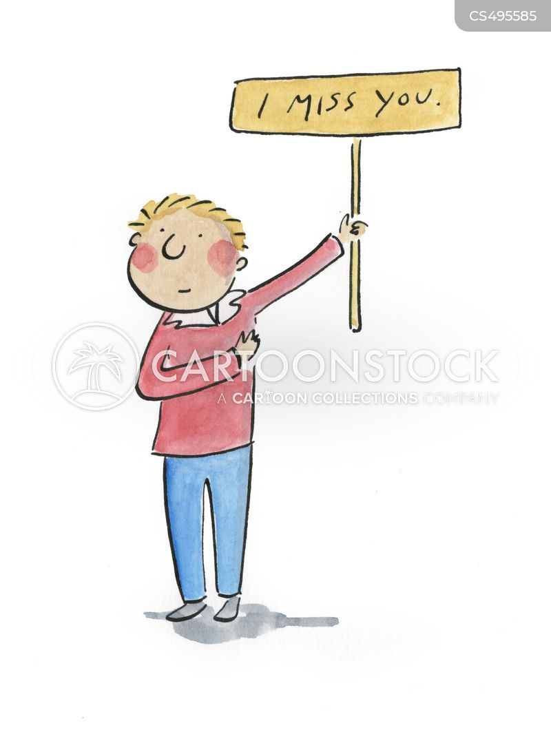 long-distance relationship cartoon