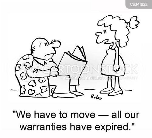 expired warranties cartoon