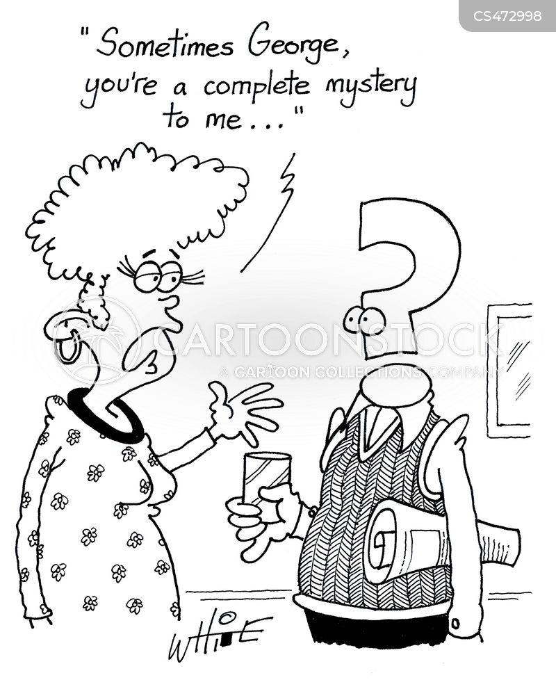 mystery man cartoon