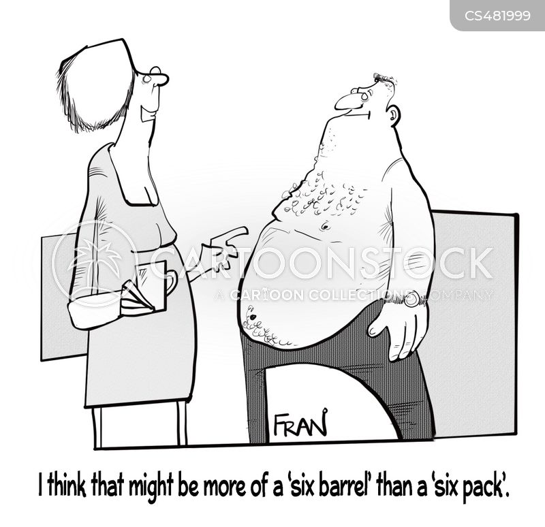 tummy muscle cartoon