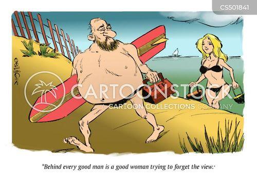 beach bod cartoon