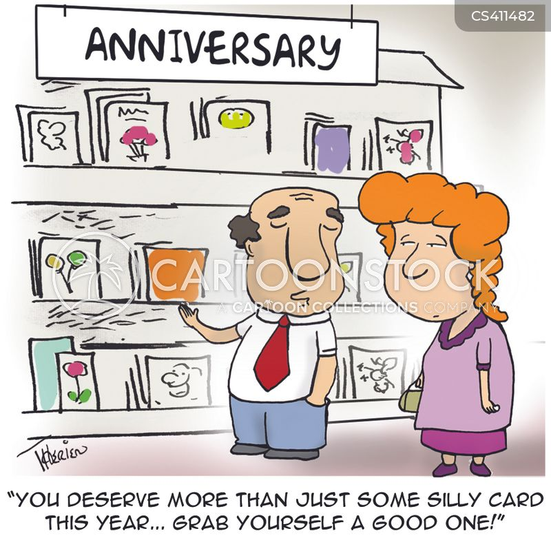 Funny Wedding Anniversary: Old Romantic Cartoons And Comics