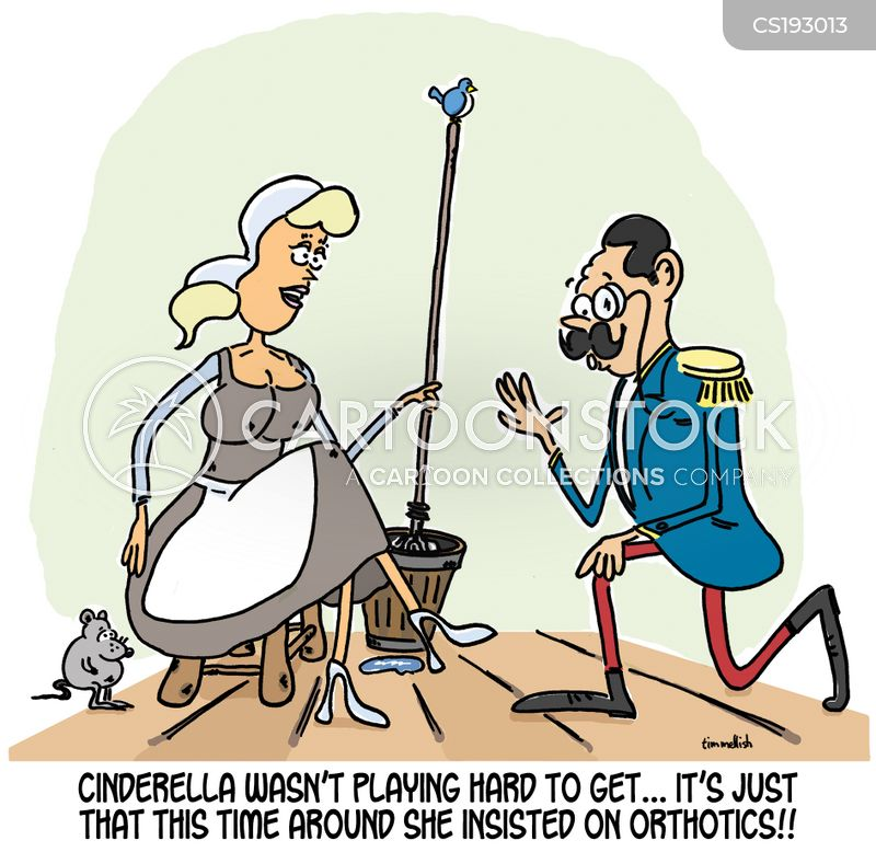 glass slipper cartoon
