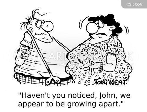 growing apart cartoon