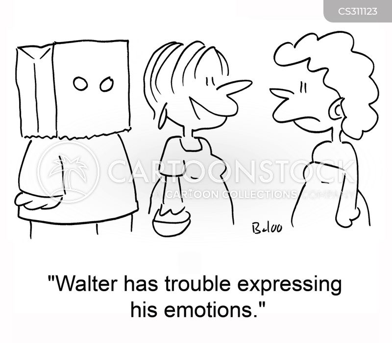 expressing emotions cartoon