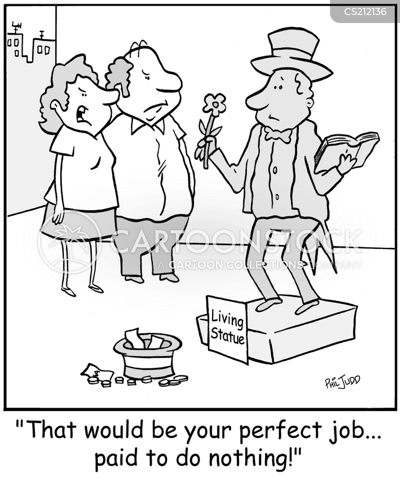 street entertainers cartoon