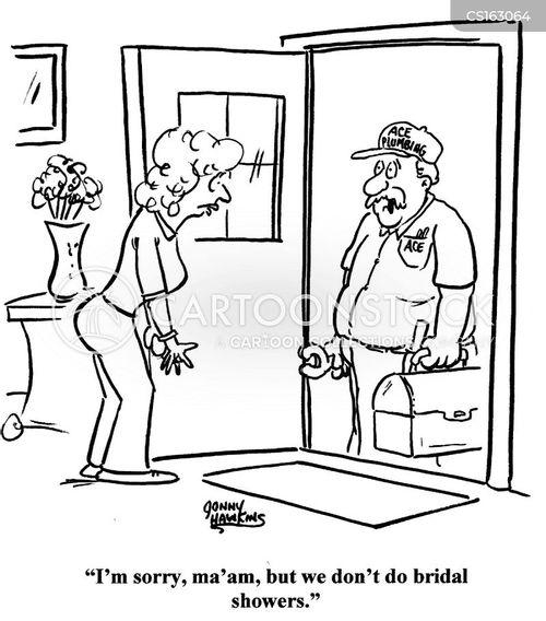 wedding shower cartoon
