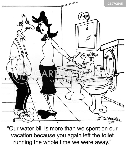 water bills cartoon