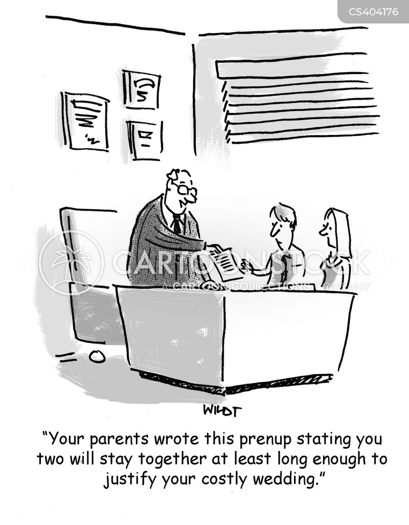 Prenuptial Agreements Cartoons And Comics  Funny Pictures From