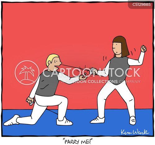 fencing foil cartoon