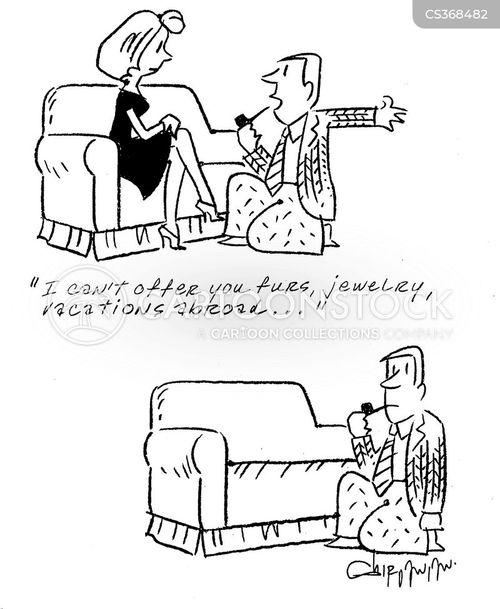 one knee cartoon