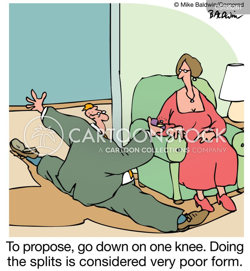 down on one knee cartoon