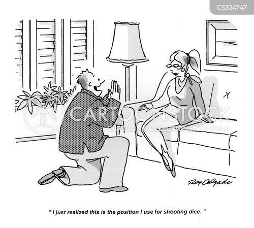 kneel cartoon