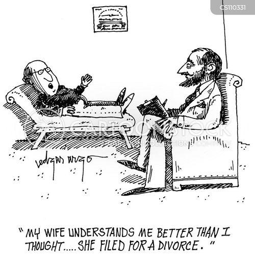 file for divorce cartoon