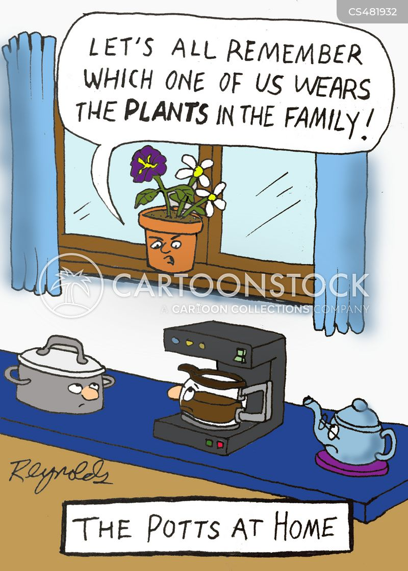 plantpot cartoon