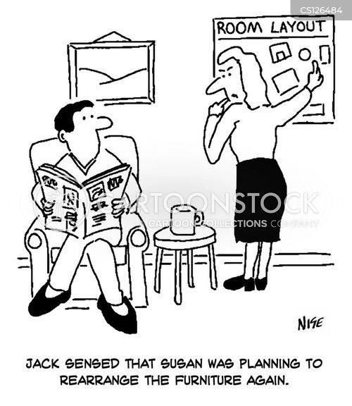rearranging cartoon