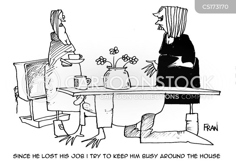 keeping busy cartoon