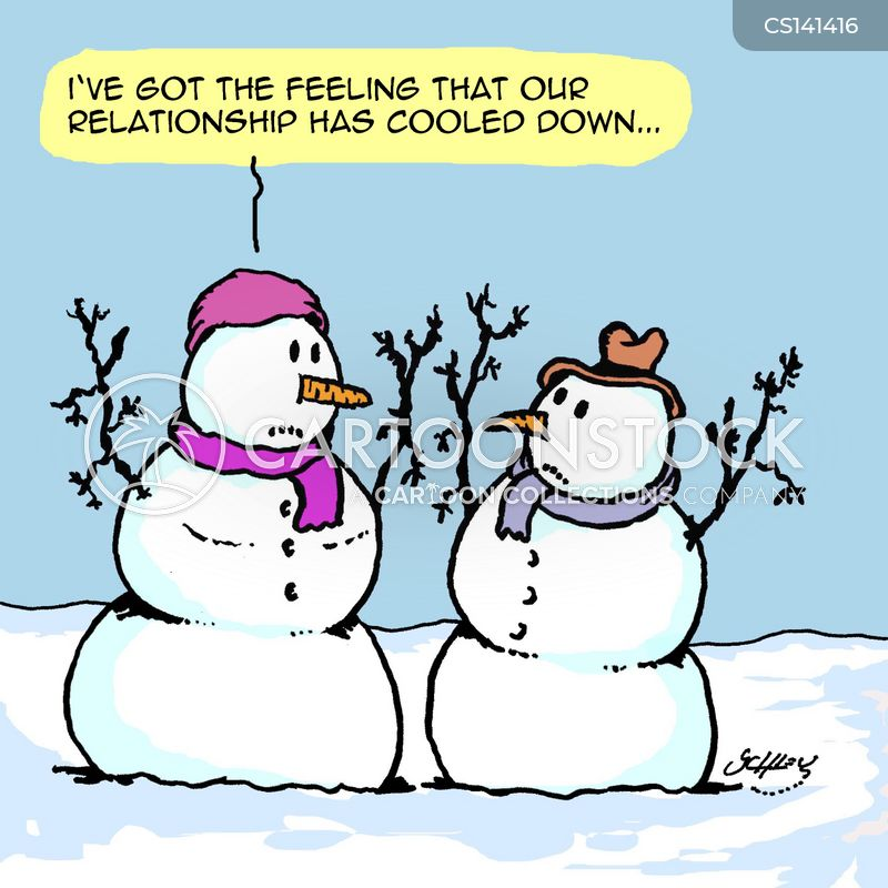 snow woman cartoon