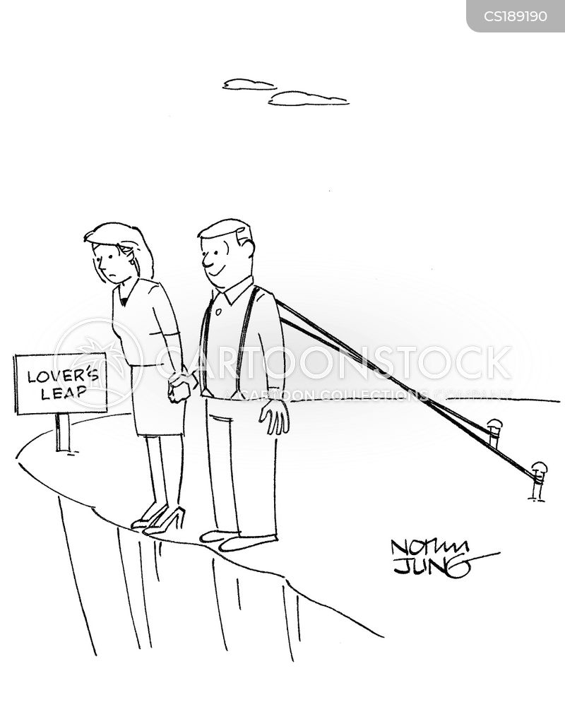 bungee jumps cartoon