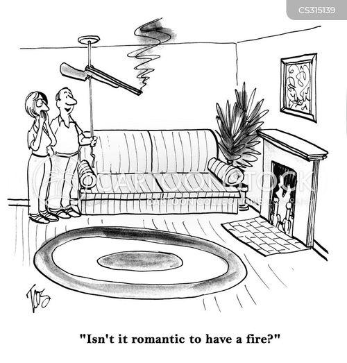 open fire cartoon