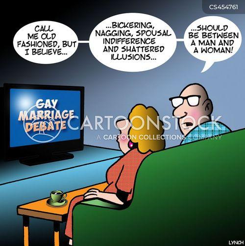 same sex marriages cartoon