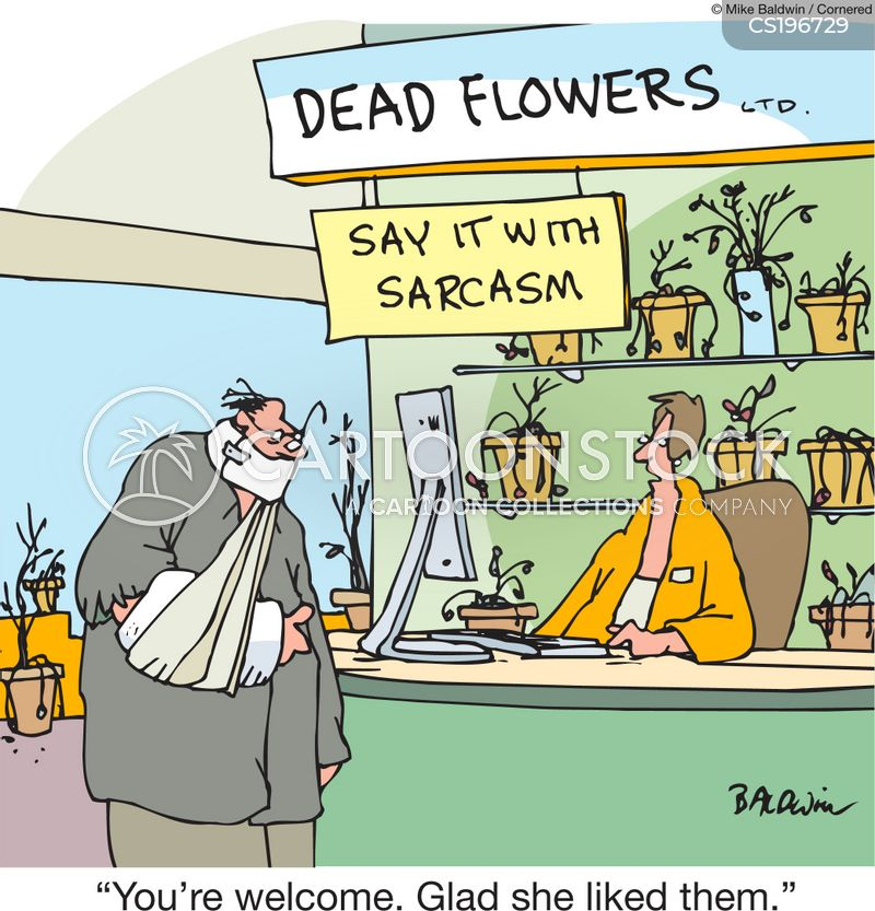 say it with flowers cartoon