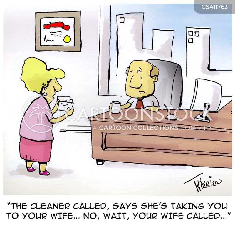 taken to the cleaners cartoon